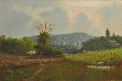 Charles Parmelee Rising Landscape Near Amsterdam New York