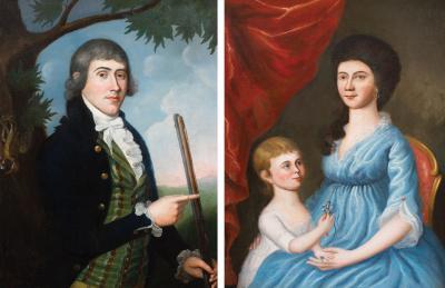 Charles Peale Polk Mr Mrs George Alexander Kennedy Sr pair