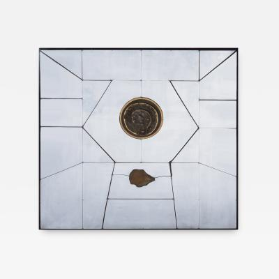 Charles Pebworth Charles Pebworth Studio Wall Sculpture in Cast Bronze Polished Aluminum