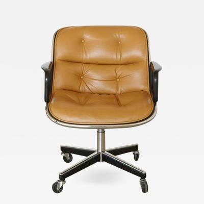 Charles Pollock Original Charles Pollock Executive Chair Upholstered in Edelman Leather