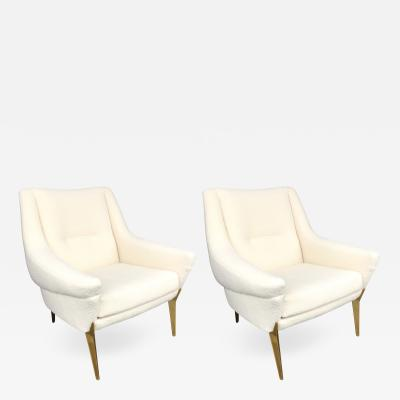 Charles Ramos Pair of Armchairs by Charles Ramos France 1950s