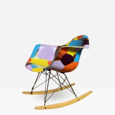 Charles Ray Eames 1950s Elephant Hide Eames RAR Rope Edge Rocking Chair updated by Jim Oliveira
