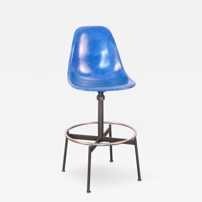 Charles Ray Eames Blue Eames Drafting Stool