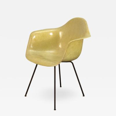 Charles Ray Eames Canary Yellow Zenith Rope Edge Armchair by Eames