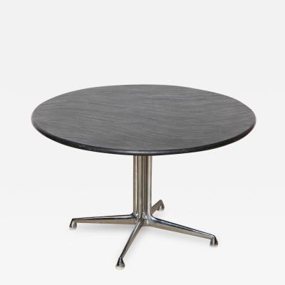 Charles Ray Eames Charles and Ray Eames for Herman Miller Chrome and Slate La Fonda Table 1960s