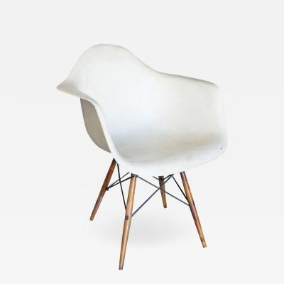 Charles Ray Eames Eames DAW Molded Fiberglass Armchair with Dowel Base for Herman Miller