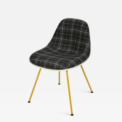 Charles Ray Eames Eames La Fonda Side Chair with checked fabric