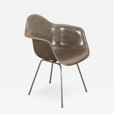 Charles Ray Eames Eames Olive Green Armshell Chair