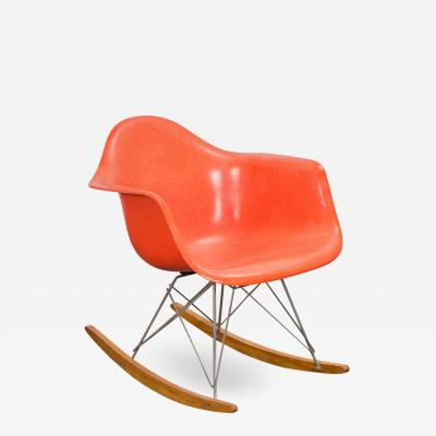 Charles Ray Eames Eames Orange Armchair on Rocker Base
