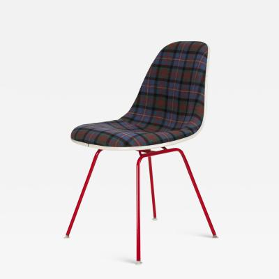 Charles Ray Eames Eames chair covered with tartan fabric