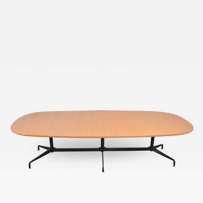 Charles Ray Eames Extra long 120 inch segmented base elliptical table by eames for herman miller