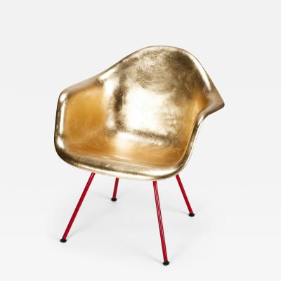 Charles Ray Eames Leaf gilded Eames Armchair