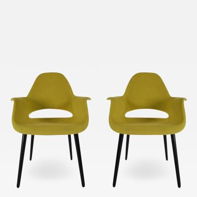 Charles Ray Eames Mid Century Modern Armchairs or Dining Chairs by Eames and Saarinen for Vitra