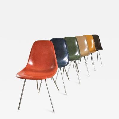 Charles Ray Eames Original Eames Fiberglass Shell Chairs by Herman Miller