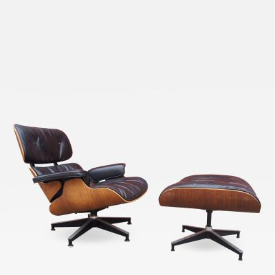 Charles Ray Eames Rosewood Lounge Chair and Ottoman by Charles and Ray Eames for Herman Miller