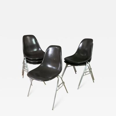 Charles Ray Eames Set Six Charles Ray Eames DSS Chairs 1979 Herman Miller