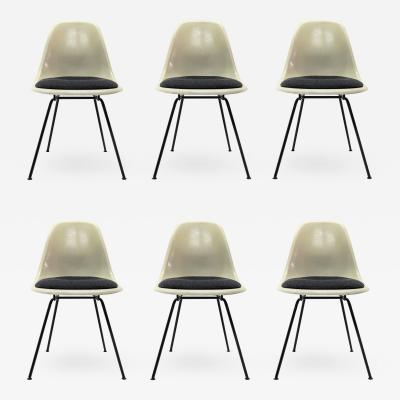 Charles Ray Eames Set of Six Eames DSX Dining Chairs for Herman Miller