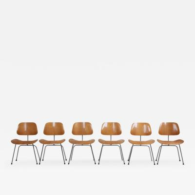 Charles Ray Eames Set of Six matched and early Charles Eames DCM Dining Chairs for Herman Miller