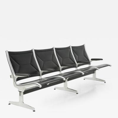 Charles Ray Eames Tandem Sling by Charles Eames for Herman Miller Four Seat