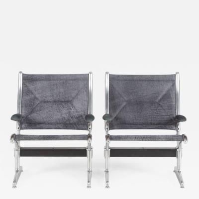 Charles Ray Eames Tandem Sling by Eames for Herman Miller Restored in Edelman Leathers
