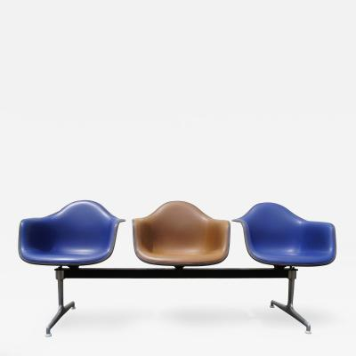 Charles Ray Eames Tandem Three Shell Seating by Charles and Ray Eames for Herman Miller