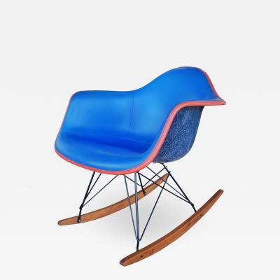 Charles Ray Eames UPHOLSTERED EAMES ROCKING CHAIR RAR d 1950