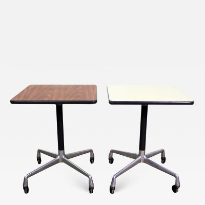 Charles Ray Eames Vintage eames for herman miller square rolling side table universal base