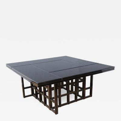 Charles Rennie Mackintosh Charles Rennie Mackintosh Style Black Lacquer Coffee Table