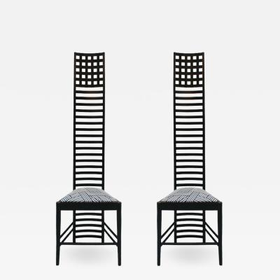 Charles Rennie Mackintosh Pair of 292 Hill House 1 Chairs Designed by Mackintosh