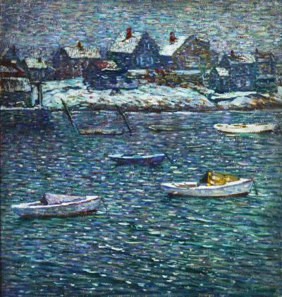 Charles Salis Kaelin Boats in Winter