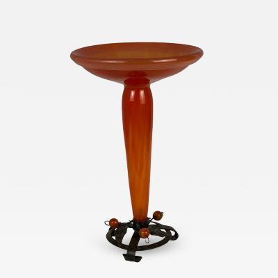 Charles Schneider Art Deco glass vase by Charles Schneider