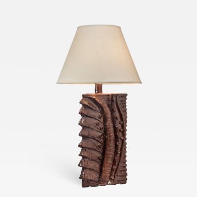 Charles Sucsan Charles Sucsan Monumental Canadian Glazed Stoneware Lamp