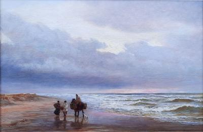 Charles Thomas Burt Figures on a Beach
