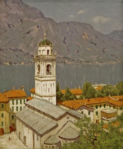 Charles Warren Eaton Above the Town Bellagio