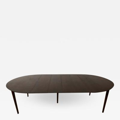 Charles Webb Large Round Charles Webb Midcentury Extension Dining Table
