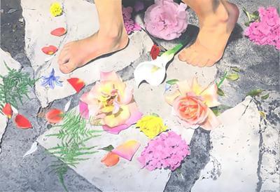 Charles Wildback Charles Wildback Monumental Oil Painting with Flowers
