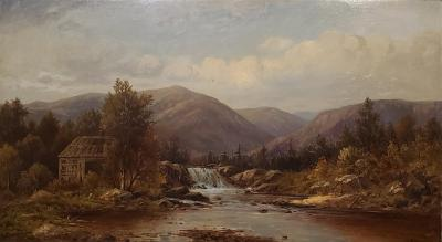 Charles Wilson Knapp View of the Susquehanna River a Landscape Oil Painting by Charles Wilson Knapp