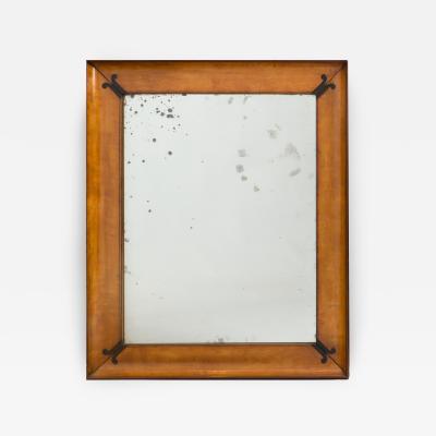 Charles X Amaranth Inlaid Satinwood Mirror