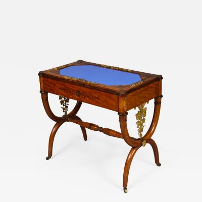 Charles X Amaranth and Lemonwood Table