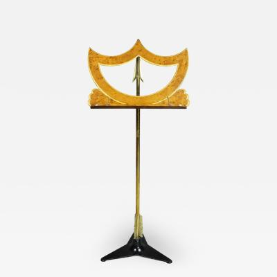 Charles X Faux Birds Eye Maple and Brass Music Stand