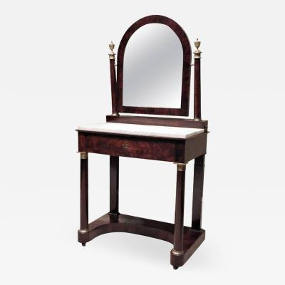 Charles X Mahogany Empire Dressing Table France circa 1820