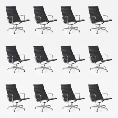 Charles and Ray Eames 12 Eames Aluminum Group Chairs