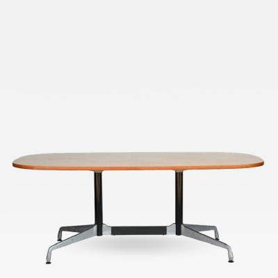 Charles and Ray Eames Beautiful Segmented Base and Bamboo Top Table by Eames for Herman Miller