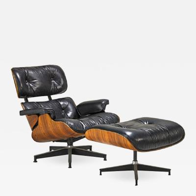 Charles and Ray Eames Charles and Ray Eames Lounge Chair no 670 and 671
