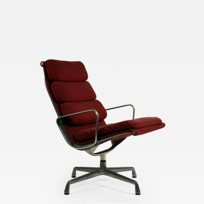 Charles and Ray Eames Eames Burgungy EA 216 Soft Pad Swiveling Lounge Chair for Herman Miller
