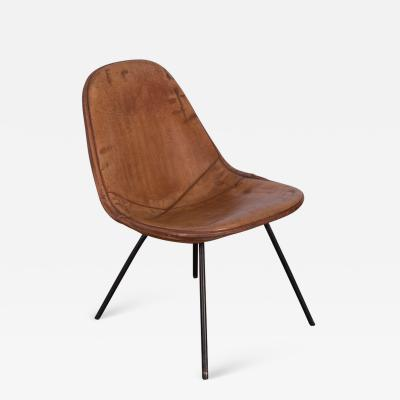 Charles and Ray Eames Eames Wire Chair with Leather Covering