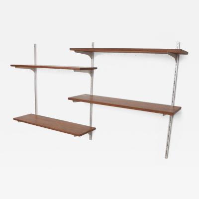 Charles and Ray Eames Mid Century Modern Teak Aluminum Wall Unit Shelving Teak Aluminum