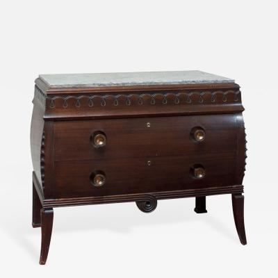 Charles van Beerleire A Belgian Mahogany Art Deco Chest of Drawers attributed to Charles Van Beerleire