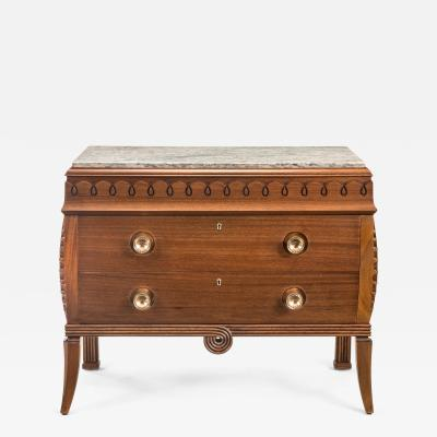 Charles van Beerleire Charles Van Beerleire Belgian Solid Mahogany Art Deco Chest of Drawers