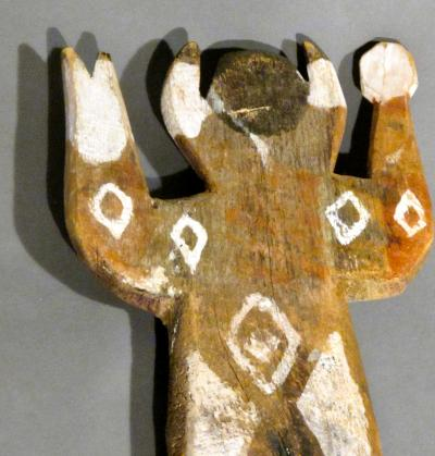 Charlie Willeto Folk Art Man with Rattle and staff Navajo